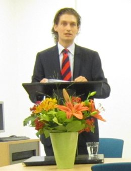 Lucien during his presentation
